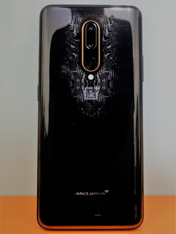 Back of OnePlus 7T Pro McLaren Edition