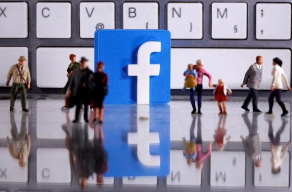 A 3D printed Facebook logo