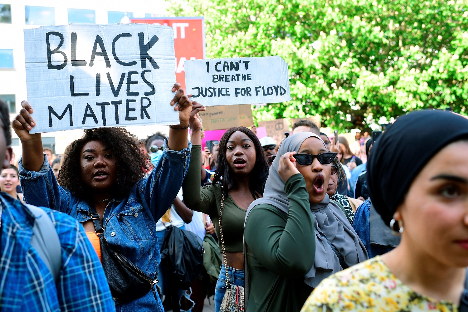 Protest in solidarity with the Black Lives Matter movement, in Aarhus