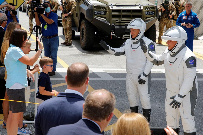 NASA SpaceX Crew Dragon astronauts