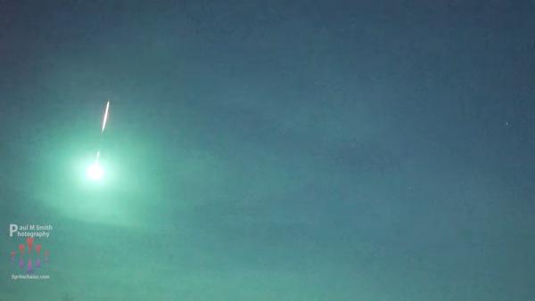 fireball meteorite southern US