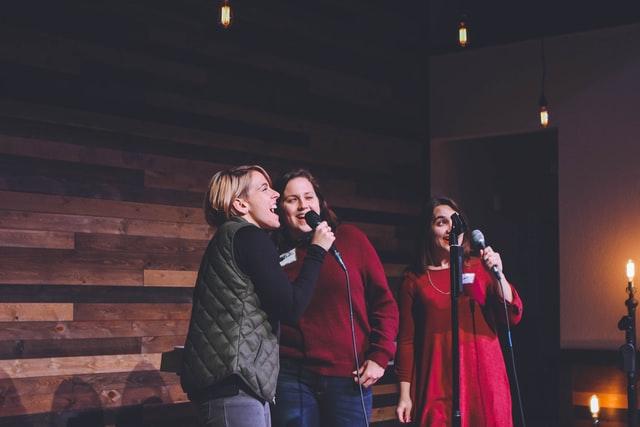 Karaoke songs and microphones to make it happen