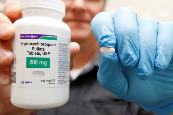 The drug hydroxychloroquine, pushed by U.S. President Donald Trump and others in recent months as a possible treatment to people infected with the coronavirus disease (COVID-19), is displayed by a pharmacist in Provo Source: REUTERS