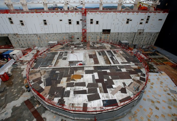 General view of the circular bioshield inside the construction site of the International Thermonuclear Experimental Reactor (ITER) in Saint-Paul-lez-Durance