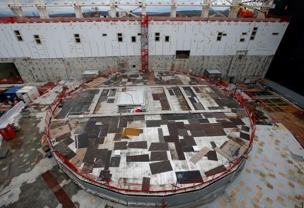 Vista geral do bioshield circular dentro do canteiro de obras do Reator Termonuclear Experimental Internacional (ITER) em Saint-Paul-lez-Durance