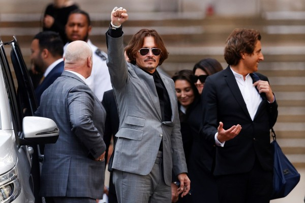 Actors Johnny Depp and Amber Heard at the High Court in London