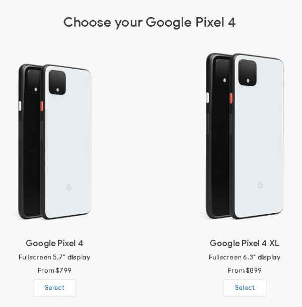 Google Says Pixel 4 and 4 XL
