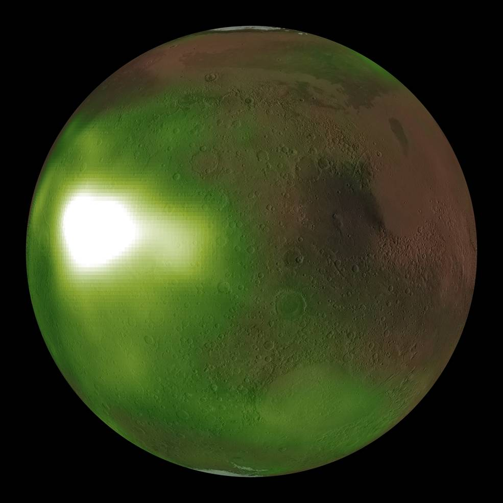 Mars Shows Eerie Green Aura at Night in Images Taken by NASA's MAVEN Orbiter - Tech Times