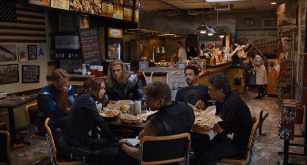 Avengers eating shawarma fan art
