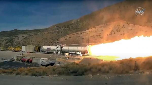 NASA SLS booster testing