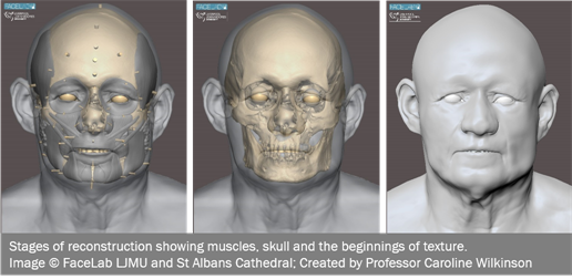 Digital reconstruction of a monk