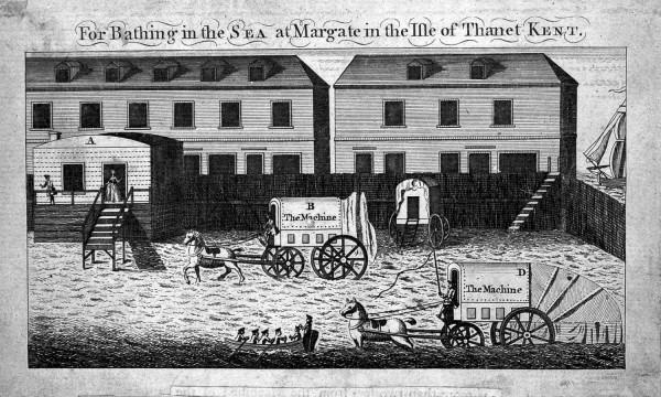 Sea-bathing machine at Margate
