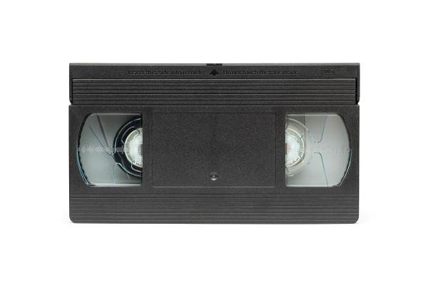 Front view of VHS E-30 videocassette (PAL system)
