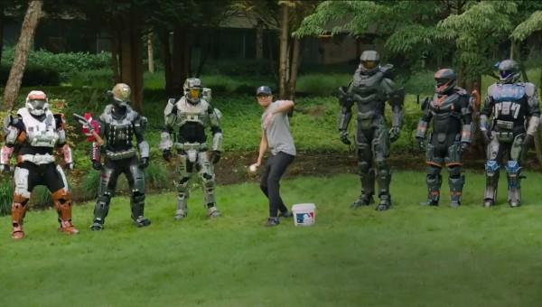 Microsoft CEO Satya Nadella and Halo during Virtual Pitch