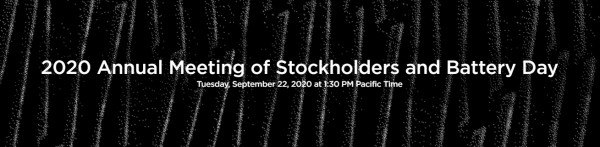 2020 Annual Meeting of Stockholders and Battery Day