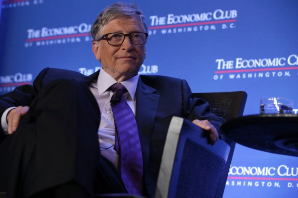 Bill Gates Speaks At The Economic Club Of Washington DC