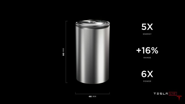 Tesla unveils new 4680 battery cell
