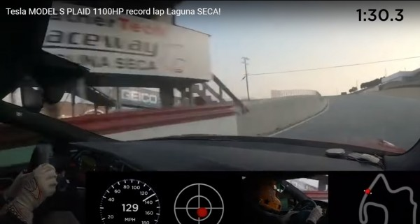 Tesla MODEL S PLAID 1100HP record lap Laguna SECA!