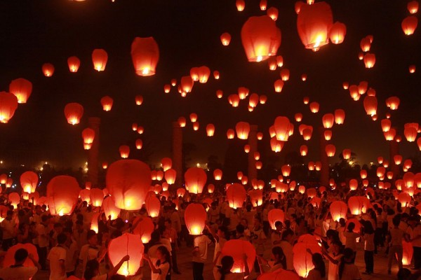 People Launch Kongming Laterns For The Mid-autumn Festival In Yichun