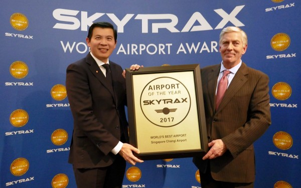 Changi Airport named World's Best Airport by Skytrax 2017