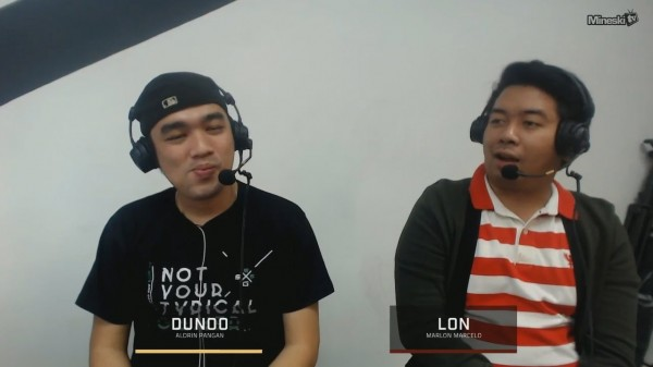 Lon and Dunoo casting Game 3 of Mineski vs Execration!