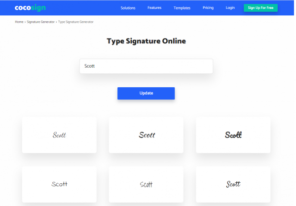 Draw' or 'type' your signature
