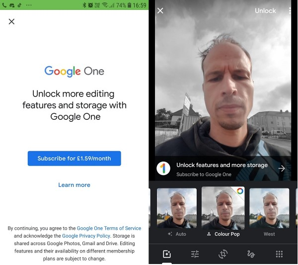 Google Photos Makes Some Editing Tools Exclusive for Google One Subscribers