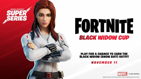 Fortnite Marvel Knockout series Black Widow cup