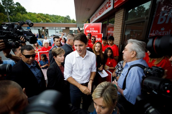 Canadian Prime Minister Justin Trudeau Campaigns For Reelection