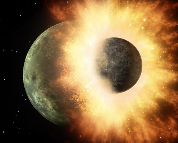 Scientists Develop Supercomputer Simulations Showing Collisions Between the Earth and Mars-Sized Planet Theia – Is This How Moon Was Formed?
