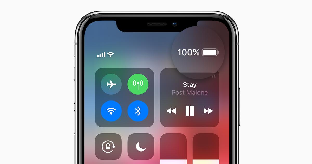 iPhone Battery Percentage