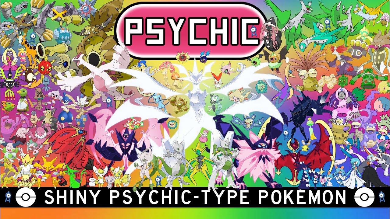 All Shiny Psychic Type Pokémon