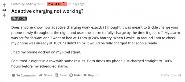 Google Adaptive Charging Feature: Only Works During Certain Hours?