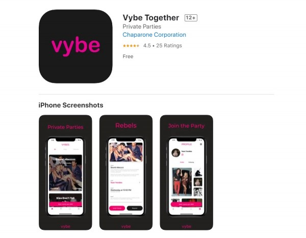Apple App Store Removes Vybe Together app that promotes secret parties; Its TikTok account banned