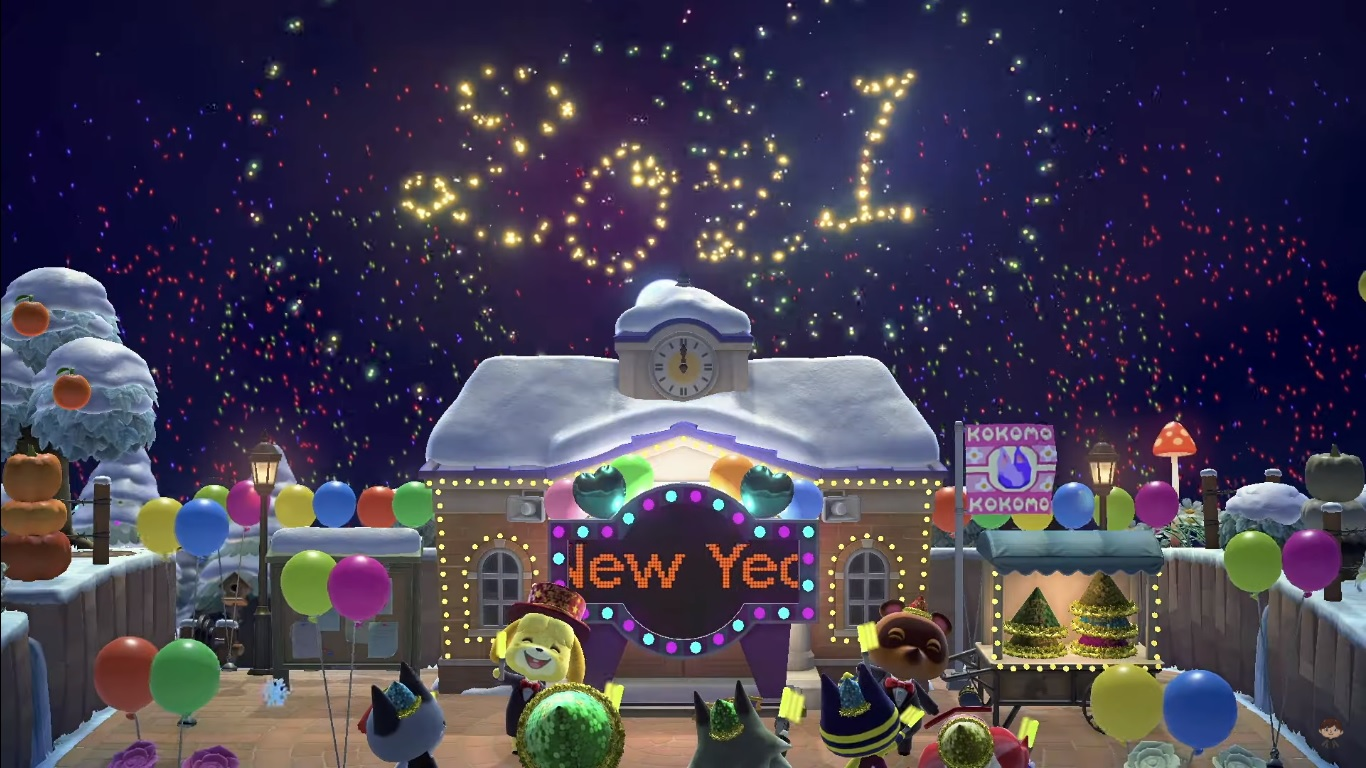 Animal Crossing New Horizons New Year's Eve Items Guide