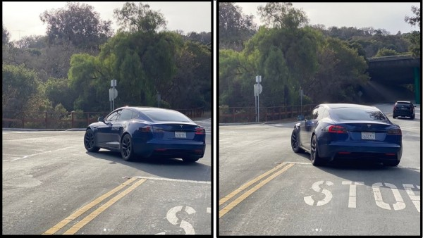 Tesla Model S Refresh with New Wide Body, Wheels, and Rear Diffuser Spotted Near Silicon Valley HQ