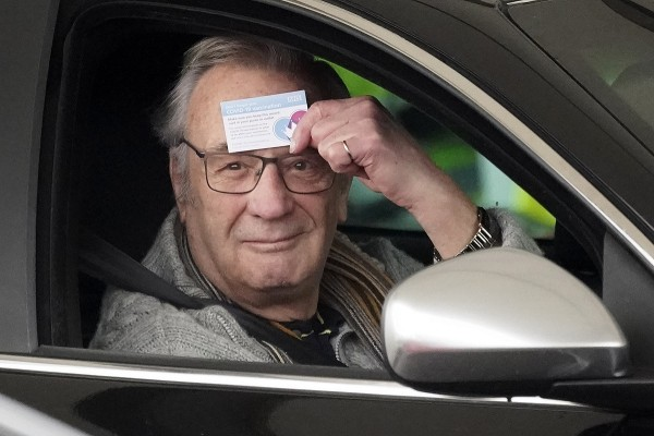 People Receive Covid Vaccines At Drive-thru Centre