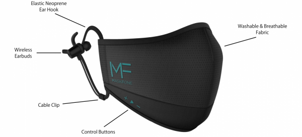 Binatone's $50 MaskFone Has Built-in Mic, Bluetooth Earbuds - and It's Washable!