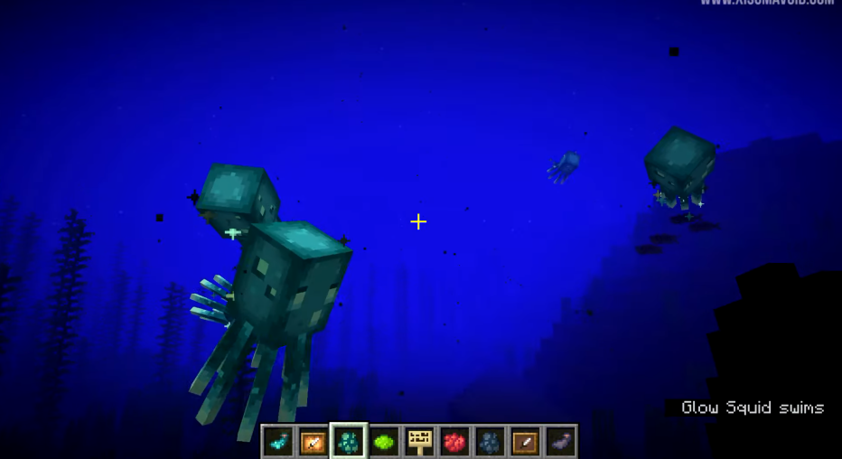 'Minecraft' Snapshot 21w03a: How to Make Neon Signs With Glow Lichen and Glow Squids