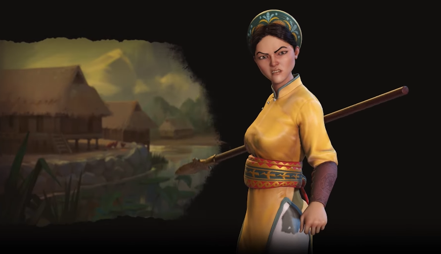 'Civ 6' First Look, Lady Tru Leader Vietnam: Nine Dragon River Delta ability