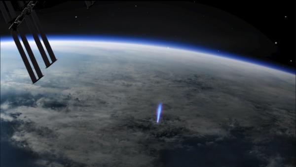 ISS ASIM blue jet lightning elves