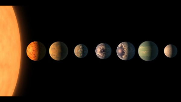 NASA Says the Seven TRAPPIST-1 'Earth-Sized' Planets Likely Have the Same Material Composition