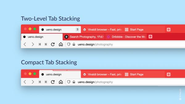 Vivaldo version 3.6 new tab stack