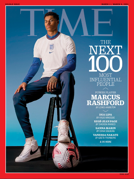 TIme Magazine Didn't Use DLSR to Capture Its Marcus Rashford Cover Photo: It Now Uses iPhone Instead