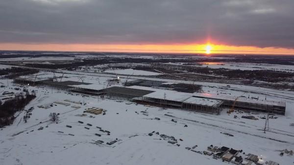 Winter at Giga Texas
