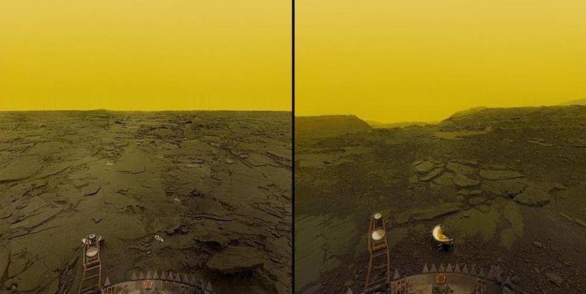 Venus surface photos Venera 13