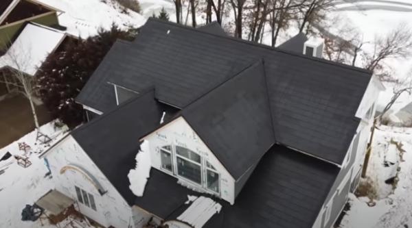 Tesla Solar Roof on Snow