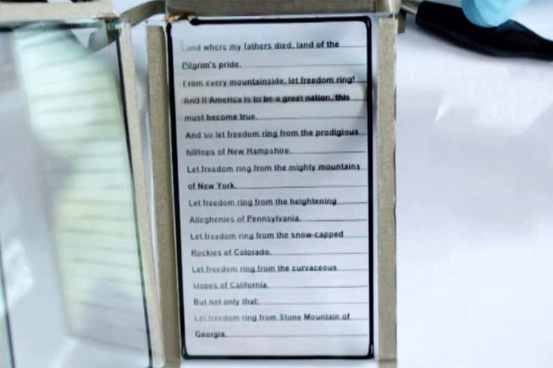 Electrically Charged Ultra-Thin Glass Screen Could be Used For E-Reader or Billboards