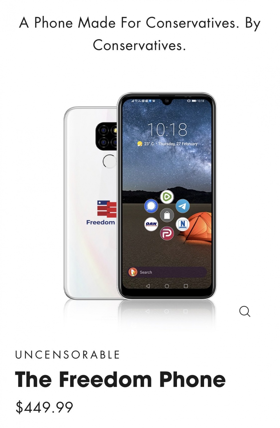 This $450 American 'Freedom' Phone Comes with Pre-Installed Parler, Yet Made in China?