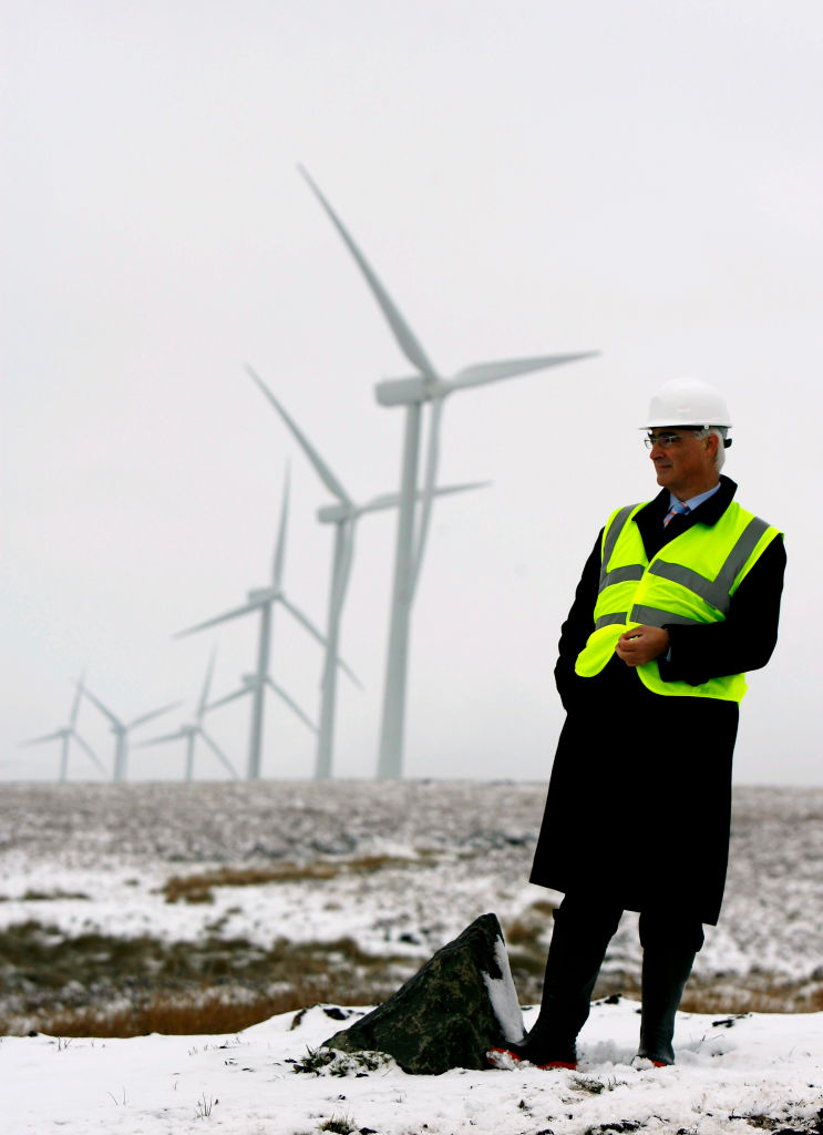 Scottish Windfarm Starts Producing Electricity